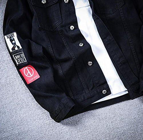 メンズ ジャケット デニムジャケット 秋 春 おしゃれ 通勤 カジュアル スタジャン 韓国風 トップス 長袖 デニムコート トップス