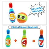 Kids Bowling Set 10 Colorful Soft Foam Pins 2 Balls Indoor Outdoor Lawn Yard Sport Games Paly Set Educational Toys Giftsfor Toddlers Boys Girls Age 3 4 5 6 7