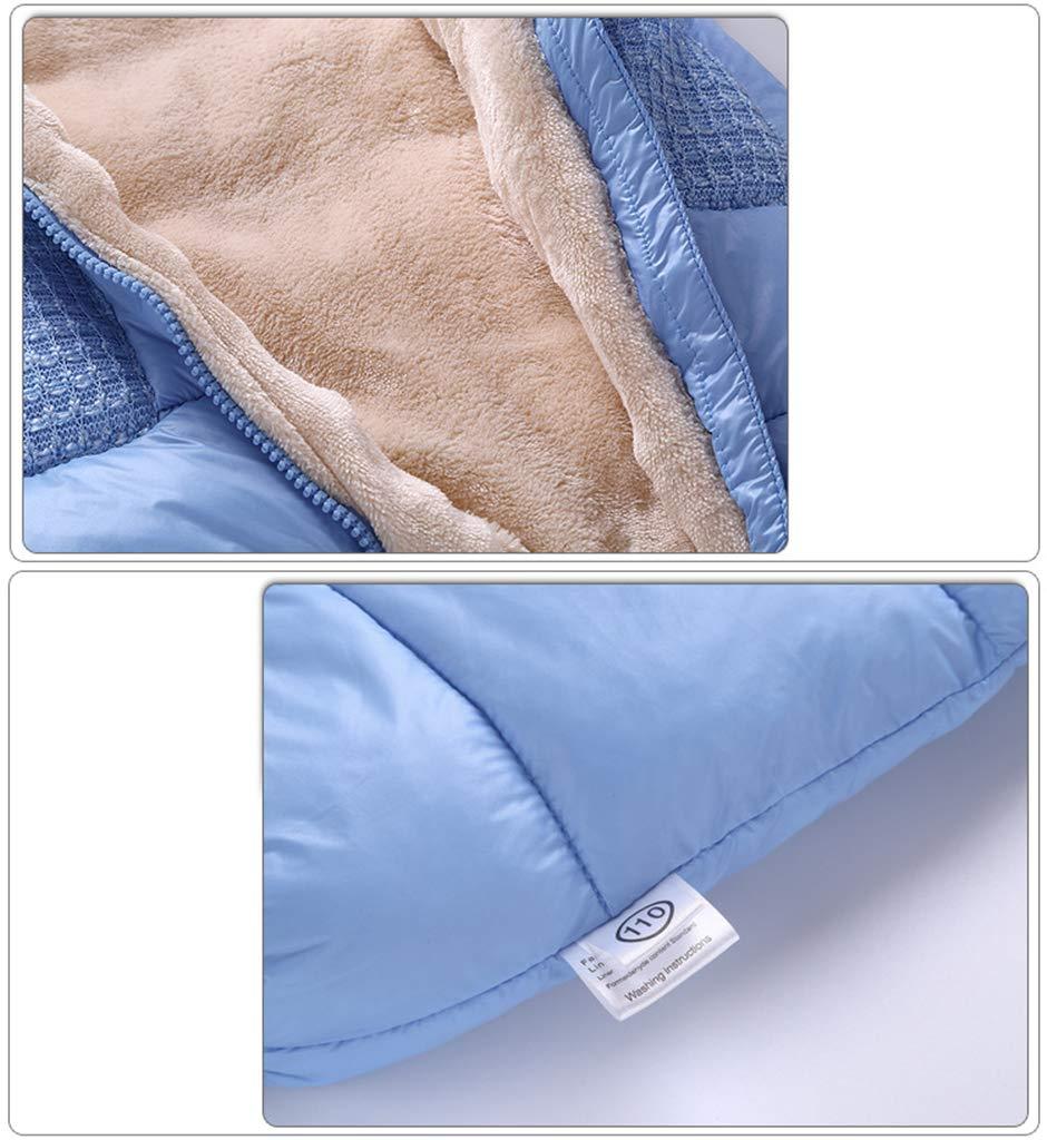 Azul 0-3 Meses Beb/é Mono Mameluco de Invierno Traje de Nieve Espesar peleles con capucha