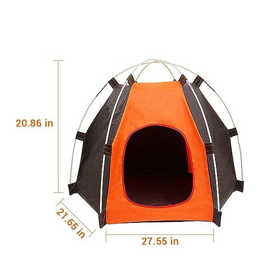 aimdonr Outdoor Pet, portable de perro Pet camping tienda, plegable Pet Casa Tienda para perros gatos, 53 * 70 * 55: Amazon.es: Bricolaje y herramientas