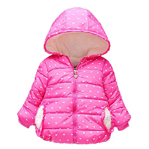 9755263c2 Baby Boys Girls Winter Puffer Coat Unisex Kids Fleece Jacket Hoodies Warm  Slim Outwear❤,