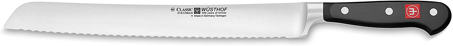 Wusthof CLASSIC Bread Knife, One Size, Black, Stainless Steel