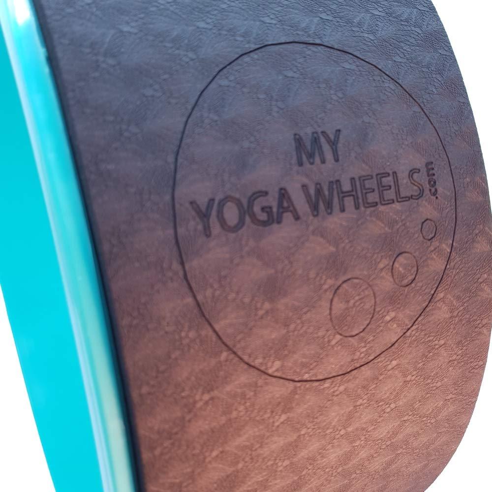 MyYogaWheels - Rueda de Yoga Grande (40 cm, soporta tu ...