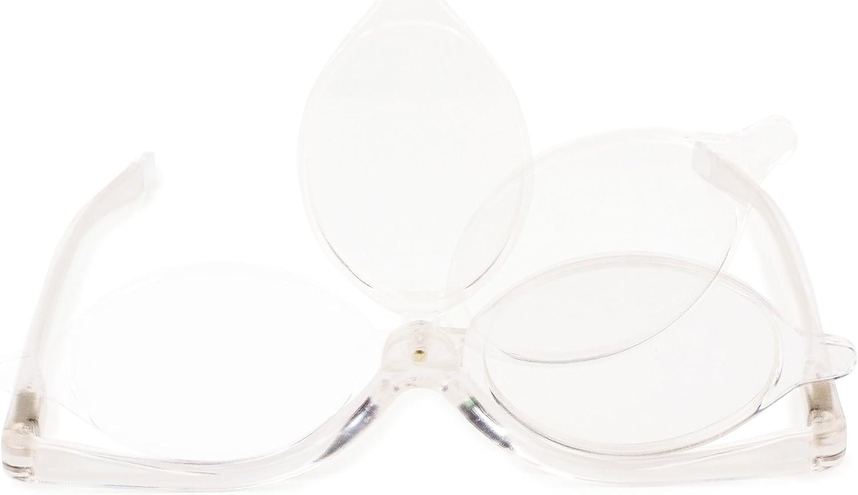 Kikkerland Magnifying Flip Lens Makeup Glasses