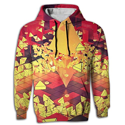 4d Adult Football (Qbeir 4D Abstract Graphic Design 3D Triangle Men's Adult Print Hoodies Cozy Drawstring Pockets Pullover Hooded Sweatshirt Prime Exclusive)