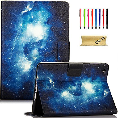 iPad Mini Case, Mini 2/3 Case, Dteck Slim Fit Colorful PU Leather Folio Stand Cover with Auto Wake/Sleep Function Smart Case for Apple iPad Mini 1/2/3 7.9 inch Tablet, Galaxy
