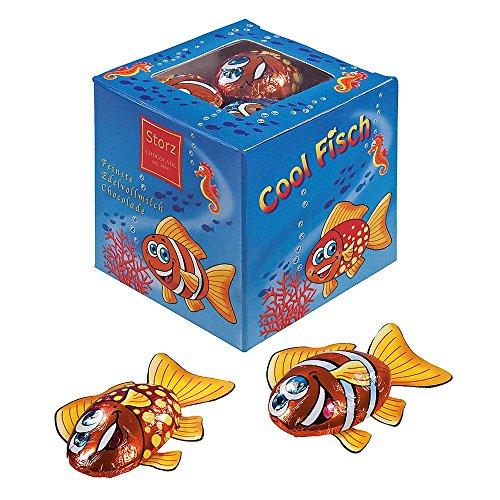 Geschenkwürfel Aquarium 62,5 g / Schokolade Fische / Schokofische Box