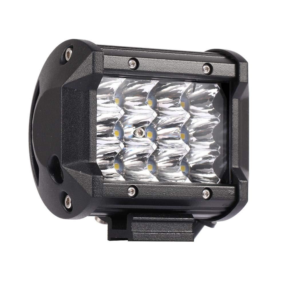 BIGSEASON 20 pulgadas 50.8 cm 288W barra de luz de fila de LED triple 6000K 7D LED barra de luz de conducci/ón Punto de inundaci/ón Combo haz de luz de trabajo para Off Road Truck ATV UTV SUV 4WD