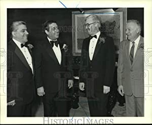 Historic Images -1987 Press Photo Attendees at South Shore Democratic Club's Annual Dinner-Dance