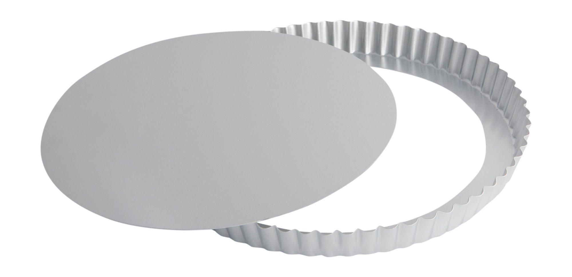 Ottinetti Fluted Round Tart Mold, 28cm/11'', Silver