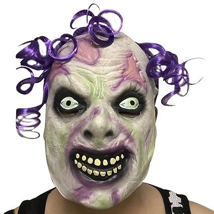 Funpa Máscara De Miedo De Halloween Horrible Zombi Cabeza Diseño Accesorios De Vestuario De Máscara De