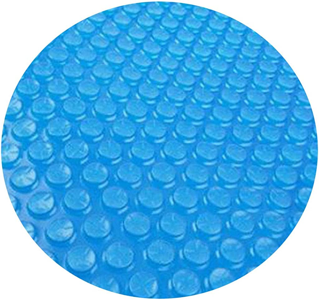 DressLksnf Fundas para Piscinascubierta Redonda de La Piscina Protector 10 Pies Pie sobre El Suelo Protección Azul Anti-Evaporación Y Anticorrosión 300X300Cm (10 Pies) Redonda