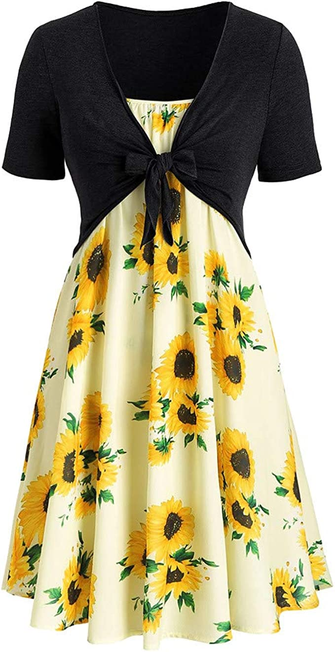 Amazon.com: Handyulong Womens Dresses Outfits Two Piece Plus ...