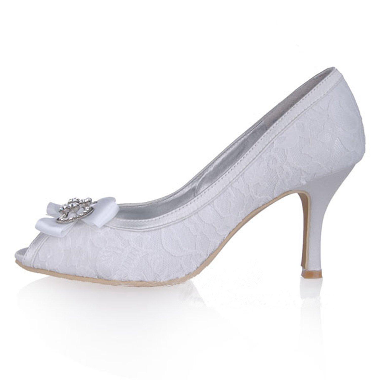 Kevin Fashion - Zapatos de boda a la moda Mujer , color Beige, talla 37.5 EU