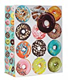 Jillson Roberts 6-Count Medium 10'' x 8'' x 4'' All-Occasion Gift Bags Available in 17 Designs, Donuts