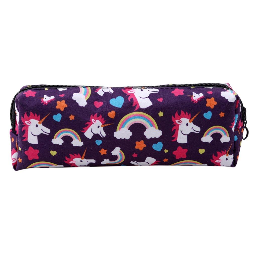 HENGSONG Women Girls Unicorn Makeup Pouch Cosmetics Bag Key Bag Coin Purse  Stationery Case Pencil Case 8b364be91c309