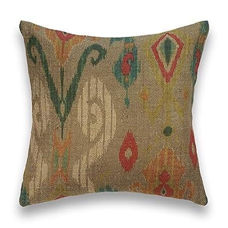 Guapore Arpilera Ornamental Cojín decoración, Yute 100% Fibra Natural, 45x45