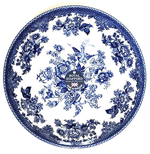 (Royal Stafford Asiatic Pheasant Dark Blue 7 1/2 Salad/Soup Bowl - Fine English China - Burslem - The Heart of the Potteries)