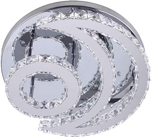 Modern Moon K9 Crystal Chandelier Lighting Flush Mount LED Ceiling Light Fixture Dimmable Lighting Pendant Lamp