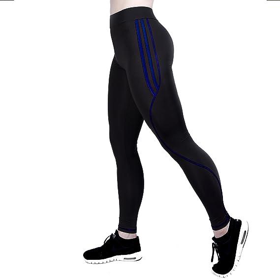 GoVia leggins para damas pantalones deportivos largos para Training Running  Yoga Fitness transpirables con cintura alta 4101 Azul L XL  Amazon.es  Ropa  y ... 211464eb8d60