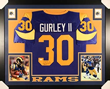 3a4b52afb Image Unavailable. Image not available for. Color  Todd Gurley Signed Rams  35x43 Custom Framed Jersey ...