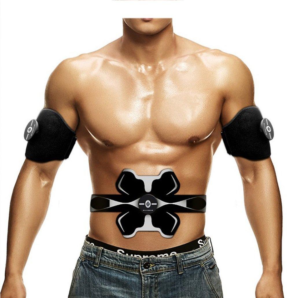 Cinture massaggianti Cinture da massaggio Stimolatori elettriciEMS Cintura tonificante per addominali Home Fitness Training Gear, Vibration Pads per uomini e donne a tono, perdita di peso, Trimmer, sn