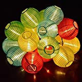 Solar Fairy Lights with 10 Lantern String Lights LED Garden Party decorative lighting colorful of the brand PRECORN