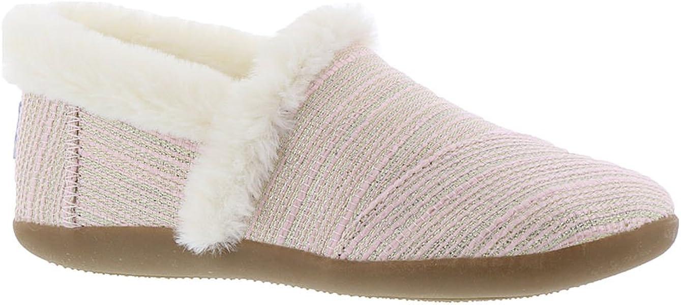 dda69b8921c Toms kids girl house slipper little kid big kid pink metallic woven jpg  1337x600 Toms slippers