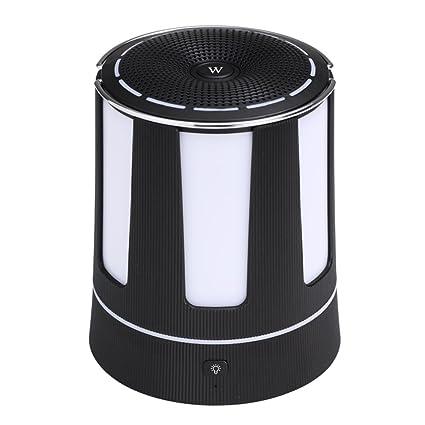 Cajas acústicas Subwoofer cilíndrico portable de la luz de la noche del altavoz inalámbrico de Bluetooth