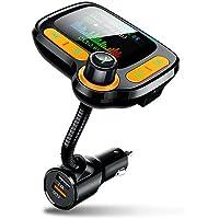 Transmissor FM Bluetooth 5.0 para carro C86 MP3 Player receptor de áudio mãos-livres sem fio Dual USB QC3.0 Carregador…