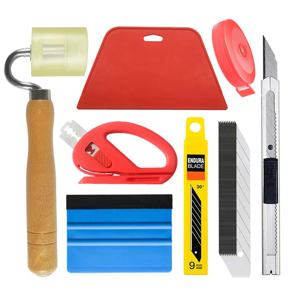 Wallpaper Tool Kit with Felt Squeegee Seam Roller for Wallpaper Contact Paper Adhesive Vinyl by tiptopcarbon