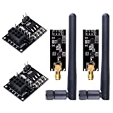 WayinTop 2pcs NRF24L01+PA+LNA RF Transceiver Module with SMA Antenna 2.4 GHz 1100m + 2pcs NRF24L01 Wireless Module with Breakout Adapter On-Board 3.3V Regulator Compatible Arduino