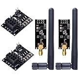WayinTop 2pcs NRF24L01+PA+LNA RF Transceiver Module with SMA Antenna 2.4 GHz 1100m + 2pcs NRF24L01 Wireless Module with Break