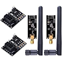 WayinTop 2pcs NRF24L01+PA+LNA RF Transceiver Module with SMA Antenna 2.4 GHz 1100m + 2pcs NRF24L01 Wireless Module with…