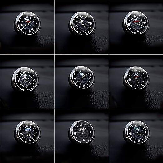 KINBEAR Voiture Tableau De Bord Garniture Horloge Accessoires Int/érieur Haute Pr/écision Quartz Lumineux Cadran avec Pince De Ventilation pour Auto
