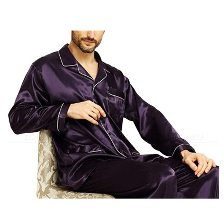 Phillip Dudley Mens Silk Satin Pajamas Set Pajama Pyjamas Set Sleepwear Loungewear S-4Xl