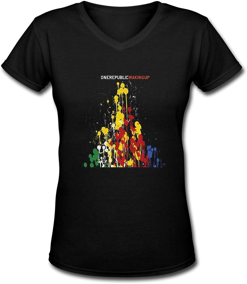 BuddhaGarment OneRepublic Women Pretty V-Neck Tee Shirt
