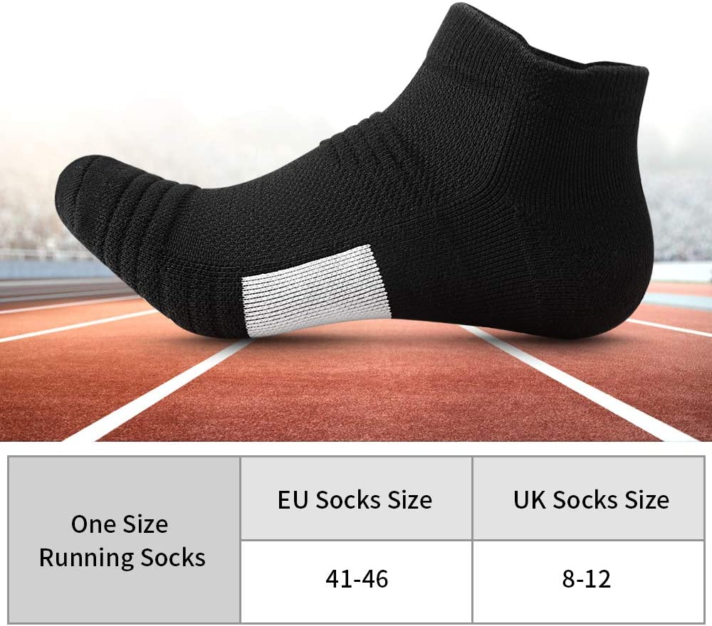Mens Trainer Socks Cotton Blend Athletic Breathable High Performance Gym Sports
