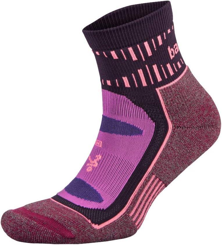 Grey//Black Balega Blister Resist Quarter Unisex Running Socks