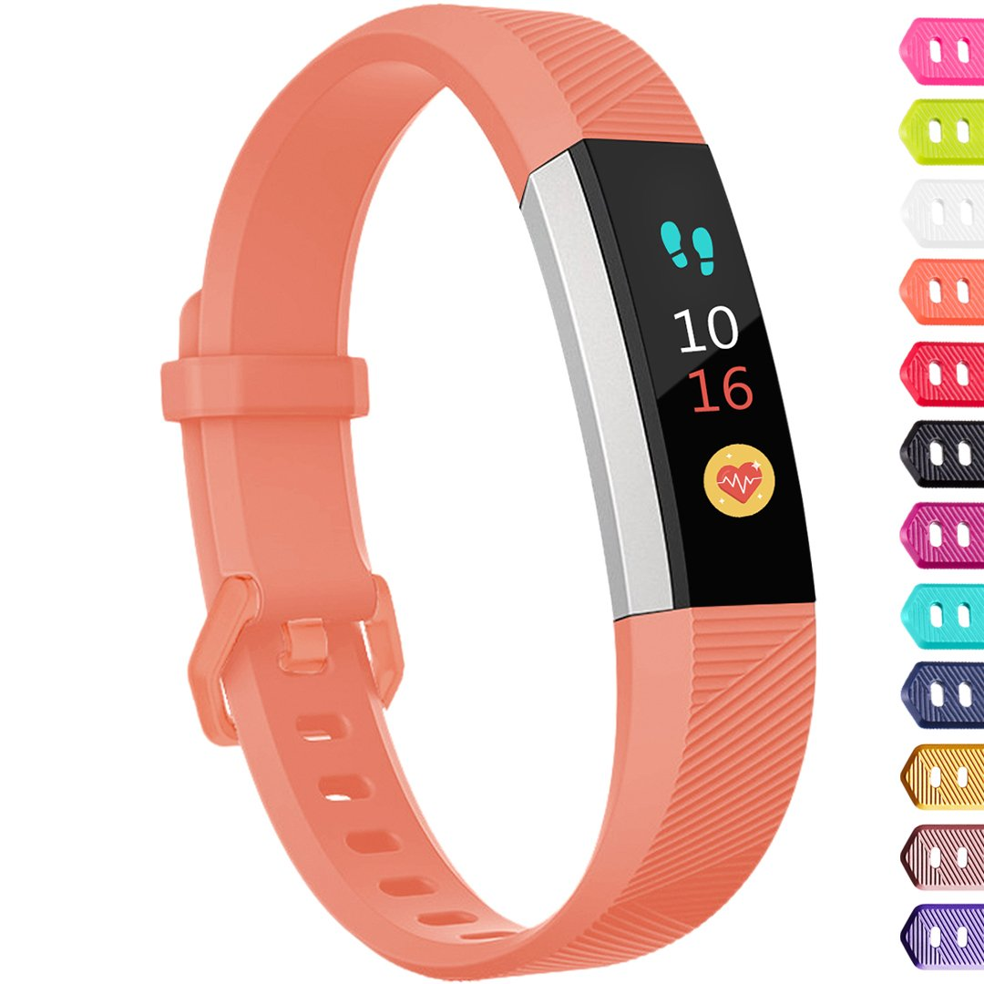Ouwegaga Compatible for Fitbit Alta Bands and Fitbit Ace Bands for Kids Small Coral