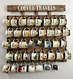Rustic pallet wood coffee cup rack 48 mug hooks XL You are here mug collection display