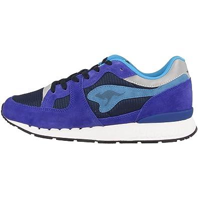 KangaROOS - Zapatillas de Piel para hombre, color Azul, talla 40: Amazon.es: Zapatos y complementos