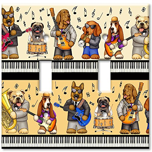 Art Plates - Musical Dogs Switch Plate - Double Toggle