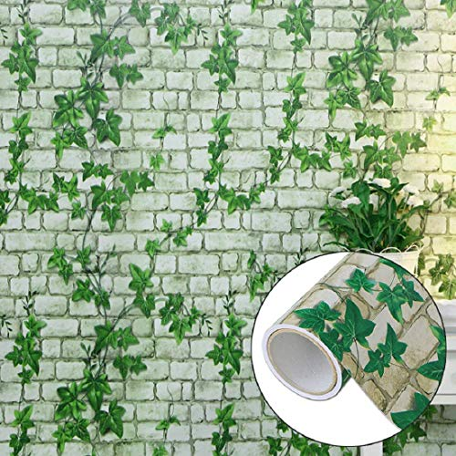 Jaamso Royals Brick Stone Peel and Stick Wallpaper, Wall Poster, Wall Sticker, PVC Self Adhesive for...