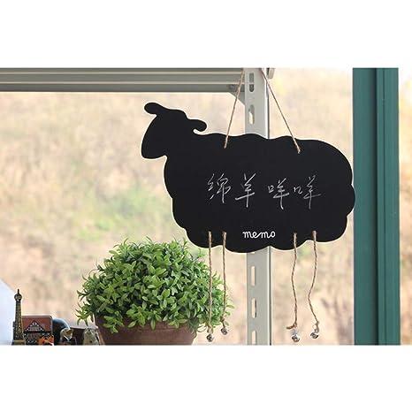 Toyandona - Pizarra colgante pequeña con forma de ciervo de ...