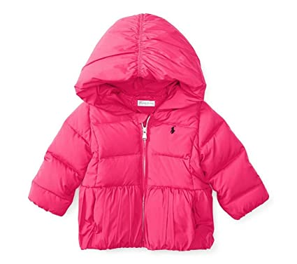 0af98a34c Ralph Lauren Infant Baby Girls' Hooded Down Puffer Jacket Pink Size 6  Months (6
