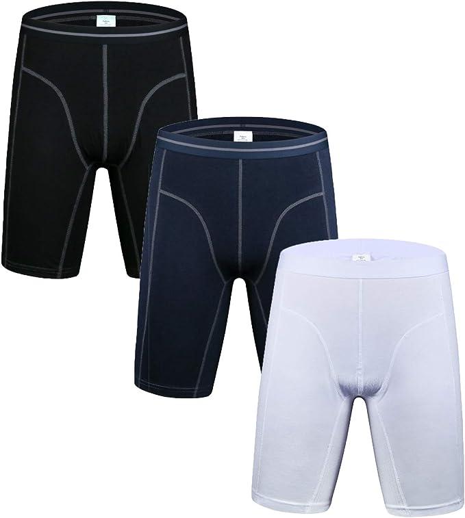 Grande taille homme Spandex Boxer lots Pochette Sous-Vêtements Packs respirant caleçons