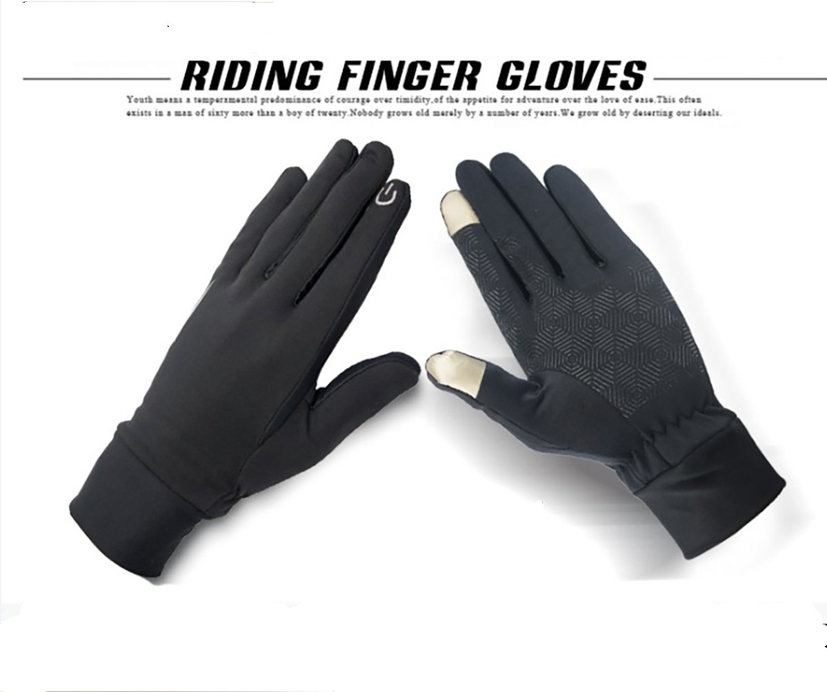Black Sport Gloves,Touch Screen Gloves,Winter Warm Smart Texting Gloves for Men and Women,Keep Convenient and Lighter for Running, Cycling (M)