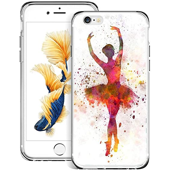 check out 7f282 6cf26 Ballet Dance Girl iPhone 6s 6 Case Customized Design Anti-Scratch Flexible  Shock Absorption Soft TPU Protective Phone Case for iPhone 6s 6-Clear
