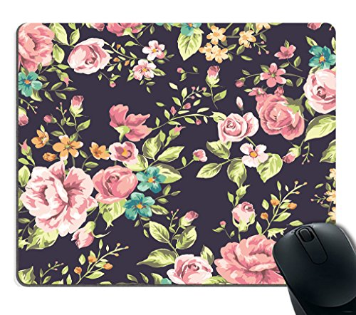 Mouse Pad Floral Roses Flowers, Custom Mouse Pad, Rectangle Mouse Pad, Rectangle Mousepad, Circle Mouse Pad, Floral, Roses, Flowers